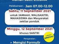 Vaksinasi Akbar 11-12 Sepetember 2021